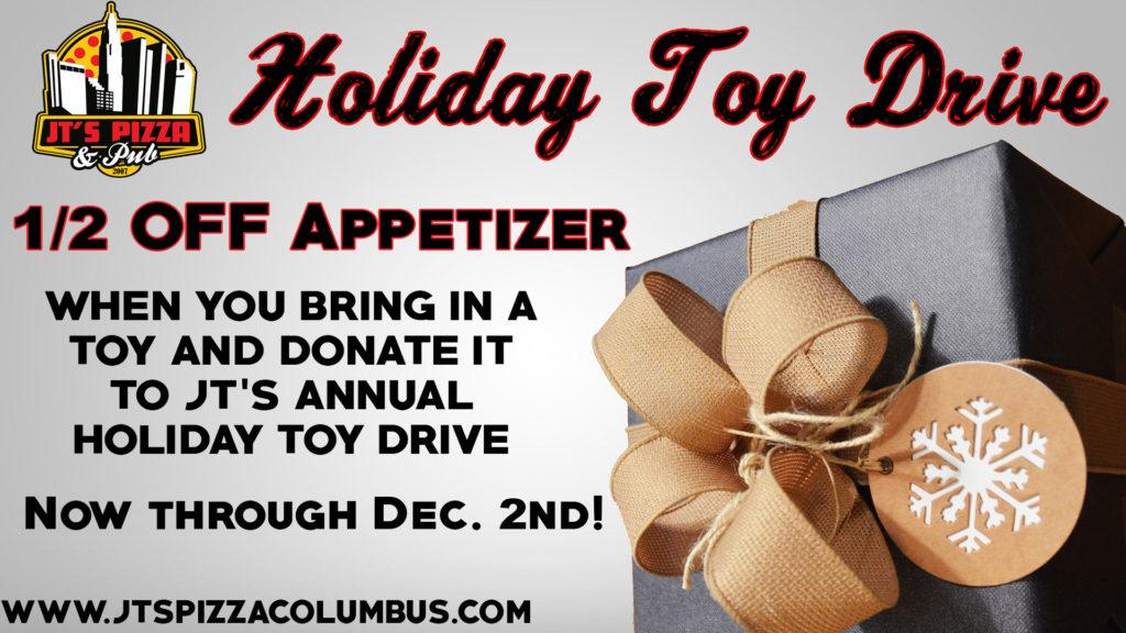 "Holiday Toy Drive @ JT""s Pizza & Pub | Columbus | Ohio | United States"