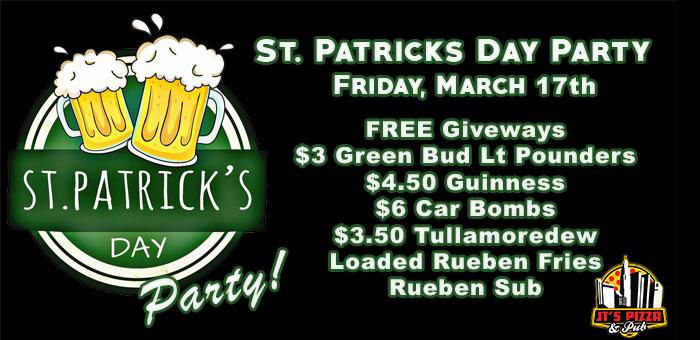 St. Patricks Day Party in Columbus, Dublin, Linworth, and Worthington Ohio