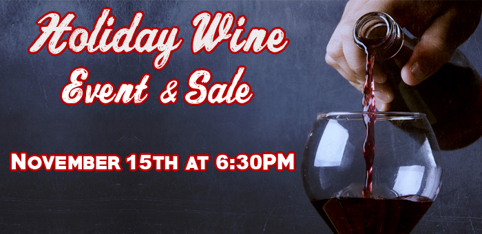 Purchase Holiday Wine at JT's Pizza and Pub